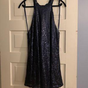 Vintage Nasty Gal sequin mini halter dress